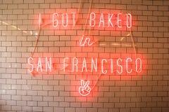 面包店背景,旧金山 免版税库存图片