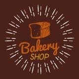 面包店面包商店布朗背景传染媒介 免版税图库摄影