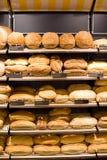 面包店面包存储 库存照片