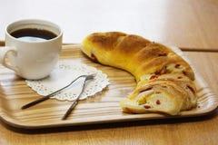 面包店面包面包店咖啡amerikano 图库摄影