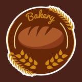 面包店麦子圈子布朗背景传染媒介 库存照片