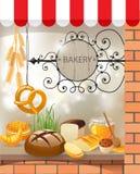 面包店 向量例证