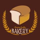 面包店PQ面包布朗背景传染媒介 库存图片