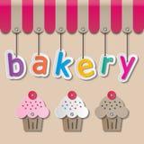 面包店shopfront标志 库存照片