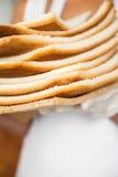 面包废物在面包店 库存图片