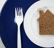 面包房子 库存图片