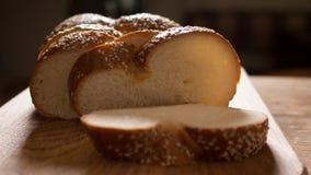 面包接近的芝麻 免版税库存照片