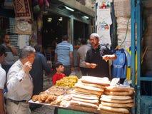 面包摊位在耶路撒冷耶路撒冷旧城 免版税库存图片
