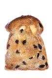 面包敬酒的查出的葡萄干片式 免版税图库摄影