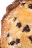 面包敬酒的查出的葡萄干片式 库存照片