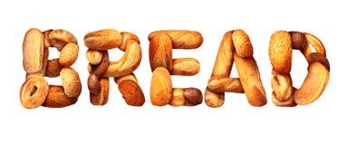 面包文本 免版税库存照片