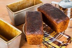 面包新鲜的黑麦 库存图片