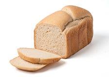 面包查出的大面包切白色 库存图片