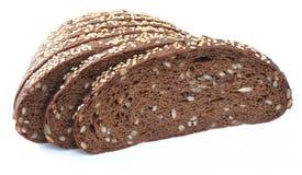 面包查出的被切的白色 食物特写镜头视图 免版税库存照片