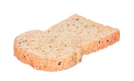 面包查出的被切的白色 免版税库存照片