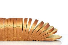 面包查出的被切的麦子空白全部 免版税库存照片