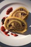 面包沙漠raison莓 免版税库存照片