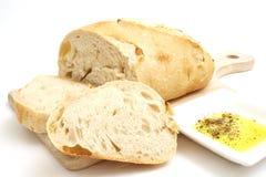 面包油橄榄色白色 免版税图库摄影