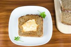 面包煎蛋卷 库存图片