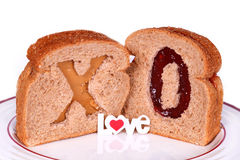 面包爱 免版税库存图片