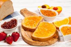 面包片用果酱 图库摄影