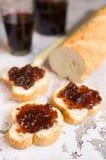 面包用果子果酱 免版税库存照片