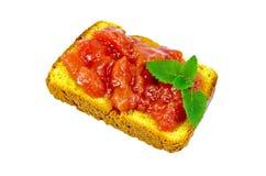 面包用苹果或梨果酱 库存图片