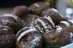 黑面包用谷物 库存照片
