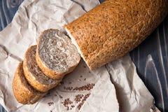 面包用麸皮和种子 库存图片