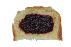 面包用从在白色隔绝的黑醋栗的果酱 库存图片