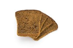 黑面包白色 库存照片