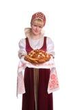 面包盐欢迎 免版税库存图片