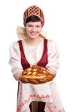 面包盐欢迎 免版税库存照片