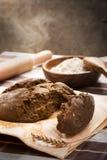 面包粗砺的黑麦 库存图片