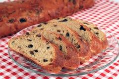 面包葡萄干甜点 免版税库存图片