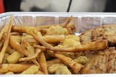 面包虾和虾煎蛋卷,安达卢西亚的美食术方次数  图库摄影