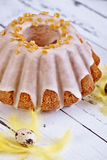 面包蛋糕装饰复活节传统 免版税库存图片