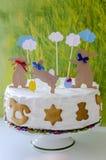 面包蛋糕装饰复活节传统 图库摄影