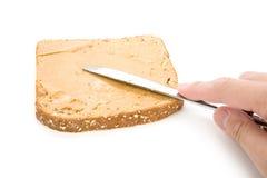 面包褐色切了 库存图片