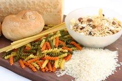 面包谷物意大利面食米 图库摄影