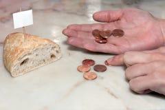 面包贫穷 免版税库存图片