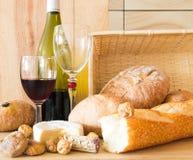 面包酒 免版税库存图片
