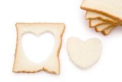 面包重点形状 免版税库存图片