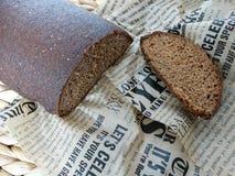 面包隔离黑麦白色 库存图片
