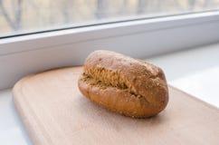 面包隔离黑麦白色 图库摄影