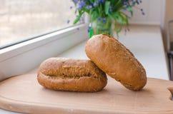 面包隔离黑麦白色 免版税图库摄影
