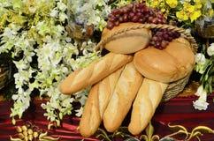 面包静物画 库存照片
