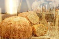 面包领域热星期日麦子酒 免版税图库摄影