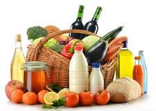 面包食物果子包括蔬菜酒 库存图片