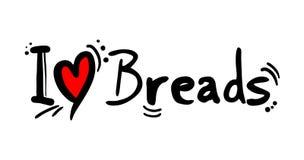面包食物爱消息 向量例证